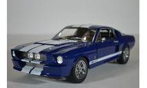 FORD MUSTANG Shelby GT500 1967 синий с белыми полосами, масштабная модель, Greenlight Collectibles, scale18