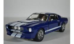 FORD MUSTANG Shelby GT500 1967 синий с белыми полосами, масштабная модель, Greenlight Collectibles, 1:18, 1/18