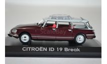 CITROEN ID19 Break 1968 Dark Red, масштабная модель, Norev, scale43, Citroën