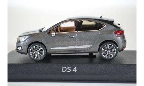 Citroen DS4 (рестайлинг) 2015 серый черный, масштабная модель, Citroën, Norev, 1:43, 1/43