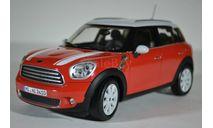 Mini Countryman 2010 (кроссовер 4х4) 2010 Red with White Roof, масштабная модель, Norev, scale18