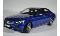 Mercedes-Benz C-Klasse Avantgarde (W205) 2014 Blue Metallic синий мет, масштабная модель, Norev, scale18
