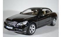 MERCEDES-BENZ E500 Cabriolet (A207) 2010 черный, масштабная модель, Norev, 1:18, 1/18