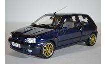 Renault Clio Williams 1993 Blue, масштабная модель, Norev, scale18