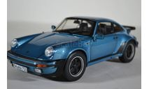 PORSCHE 911 Turbo 3.3 1977 голубой, масштабная модель, Norev, 1:18, 1/18