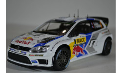 Volkswagen Polo R WRC #1 S.Ogier-J.Ingrassia World Champion победитель Rally RACC Catalunya 2014, масштабная модель, Norev, scale18