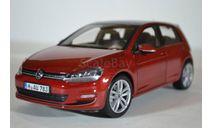 Volkswagen Golf VII (5-дверей) 2013 Sunset Red (красный), масштабная модель, Norev, scale18