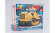 Сборная модель Гусеничный трактор Т-100, сборная модель автомобиля, scale43, AVD Models