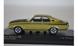 Opel MANTA SR 1970 золотой, масштабная модель, Minichamps, 1:43, 1/43