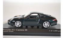 Porsche 911 CARRERA 4S COUPÉ 2005 · GREEN METALLIC, масштабная модель, Minichamps, 1:43, 1/43
