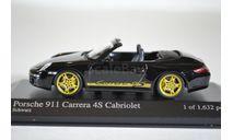 PORSCHE 911 CARRERA 4S CABRIOLET 2005 BLACK, масштабная модель, Minichamps, scale43