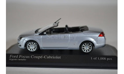 FORD FOCUS COUPE CABRIOLET 2008 SILVER, масштабная модель, Minichamps, scale43