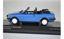 Ford ESCORT III CABRIOLET - 1983 - BLUE METALLIC, масштабная модель, Minichamps, scale43