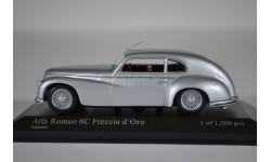 ALFA ROMEO 6C 2500 - FRECCIA DORO - 1947 - SILVER, масштабная модель, Minichamps, scale43