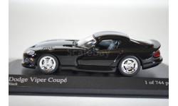 Dodge Viper Coupe 1993 черный, масштабная модель, Minichamps, scale43