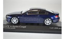 BMW 6-SERIES COUPE E63 2006 DARK BLUE, масштабная модель, Minichamps, 1:43, 1/43