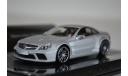 Mercedes-Benz SL65 AMG BLACK SERIES (R230) 2009 MATT SILVER LINEA OPACA, масштабная модель, Minichamps, scale43