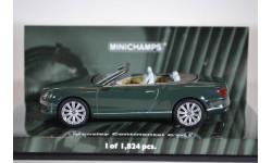 Bentley CONTINENTAL GTC 2011 GREEN, масштабная модель, Minichamps, 1:43, 1/43