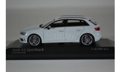 AUDI S3 SPORTBACK 2013 белый, масштабная модель, Minichamps, 1:43, 1/43