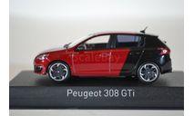 PEUGEOT 308 GTi 2015 красный черный, масштабная модель, Norev, 1:43, 1/43