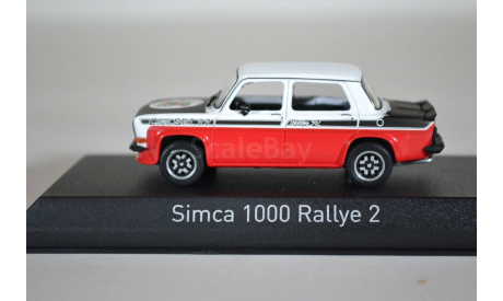 SIMCA 1000 Rallye 2 SRT 1977 белый красный, масштабная модель, Norev, scale43