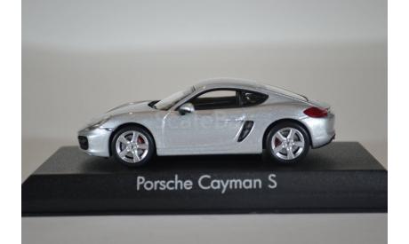 PORSCHE Cayman S (981C) 2013 серебристый, масштабная модель, Norev, 1:43, 1/43