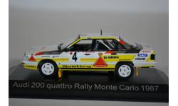AUDI 200 Quattro HB #4 Rohrl  Geistdorfer Rally Monte Carlo 1987, масштабная модель, Norev, 1:43, 1/43