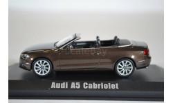 AUDI A5 Cabriolet 2012 Metallic Teakbrown, масштабная модель, Norev, scale43
