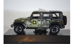 JEEP Wrangler 4x4 Unlimited U.S.Army Edition 5-дв. (Hard Top) 2014 зеленый, масштабная модель, Greenlight Collectibles, scale43