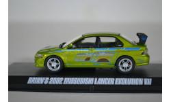 Mitsubishi Lancer Evolution VII машина Брайана О'Коннора из кф 2 Fast 2 Furious (Двойной Форсаж) 2003, масштабная модель, Greenlight Collectibles, scale43