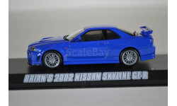 NISSAN Skyline GT-R (R34) 2002 Fast & Furious (из кф Форсаж IV), масштабная модель, Greenlight Collectibles, scale43