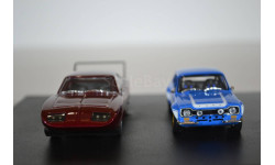 Набор масштабных моделей DODGE Charger Daytona 1969 и FORD Escort RS 2000 MkI 1974 Fast & Furious (из кф Форсаж VI), масштабная модель, Greenlight Collectibles, scale43