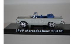 Mercedes-Benz 280SE Cabriolet W111 1969 серый из кф Мальчишник в Вегасе (The Hangover), масштабная модель, Greenlight Collectibles, scale43