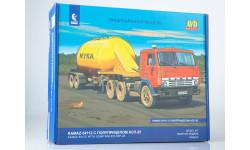 Сборная модель КАМАЗ-54112 с полуприцепом АСП-25, сборная модель автомобиля, AVD Models, 1:43, 1/43