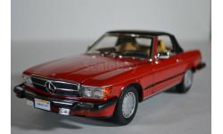 Mercedes-Benz 300 SL (R107) 1985 US-version (версия для рынка США) красный, масштабная модель, Norev, scale43