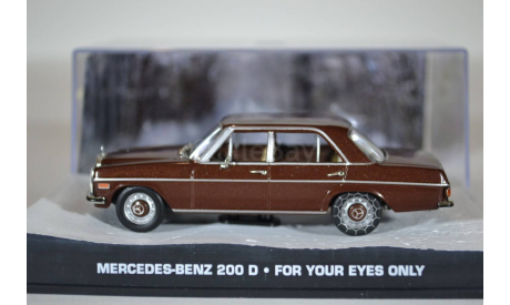MERCEDES BENZ 200D W115 1981 JAMES BOND FOR YOUR EYES ONLY, масштабная модель, Ge Fabbri, scale43