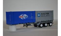 Полуприцеп-контейнеровоз МАЗ-938920 с контейнерами CMA CGM и MAERSK