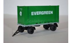 прицеп ГКБ-8350 с контейнером EVERGREEN, масштабная модель, АИСТ+ КИТ AVD by SSM, scale43