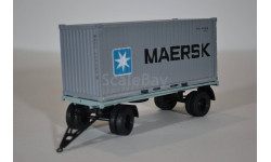 прицеп ГКБ-8350 с 20 т контейнером MAERSK, масштабная модель, АИСТ+ КИТ AVD by SSM, 1:43, 1/43