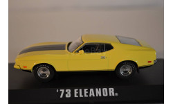 "FORD Mustang Mach 1 ""Eleanor"" (из кф Угнать за 60 секунд) 1973 Yellow, масштабная модель, 1:43, 1/43, Greenlight Collectibles"