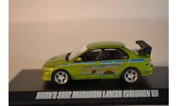 MITSUBISHI Lancer Evo VII 2002 2 Fast & 2 Furious (из кфДвойной Форсаж), масштабная модель, scale43, Greenlight Collectibles