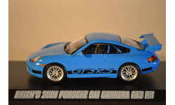 PORSCHE 911 GT3 RS 2001 Fast & FuriousFast Five(из кф Форсаж V), масштабная модель, 1:43, 1/43, Greenlight Collectibles