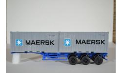 полуприцеп-контейнеровоз МАЗ-938920, Maersk, сборная модель автомобиля, 1:43, 1/43, AVD для SSM