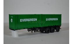 Полуприцеп-контейнеровоз МАЗ-938920 с контейнерами EVERGREEN, сборная модель автомобиля, AVD для SSM, 1:43, 1/43