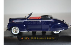 Lincoln Zephyr Convertible 1939, масштабная модель, Signature, scale32