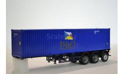 контейнер 40 футов  P&O с полуприцепом-контейнеровозом МАЗ-938920, сборная модель автомобиля, 1:43, 1/43