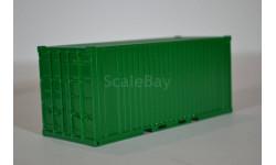 контейнер 20 футов 'зелёный', сборная модель автомобиля, ЛХЛ, 1:43, 1/43