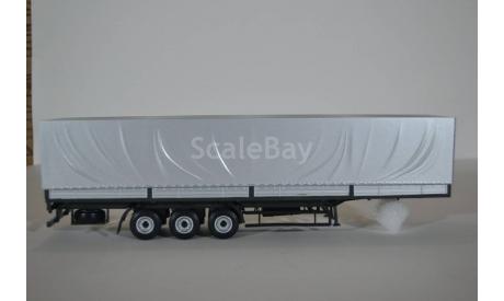 полуприцеп маз 9758 серый-серебристый, сборная модель автомобиля, AVD для SSM, 1:43, 1/43