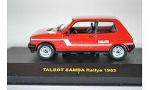 TALBOT SAMBA Rallye 1983 Red, масштабная модель, ixo, scale43