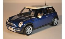 Mini Cooper 2002 синий, масштабная модель, scale18, Maisto